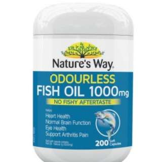Natures Way Fish Oil Odourless 1000mg 200 Capsules