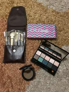 Make up set (Mac & Eye Candy with Burt's Bees Brush set