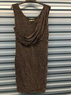 Midi sequence dress - L