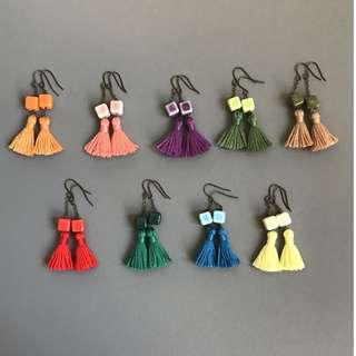 Free Mail! Cubic Tassel earrings