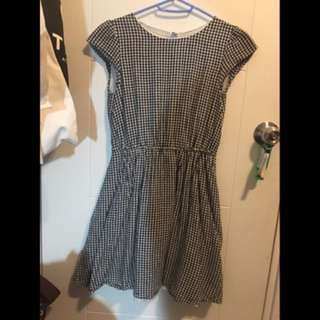 Hemp/cotton plaid dress