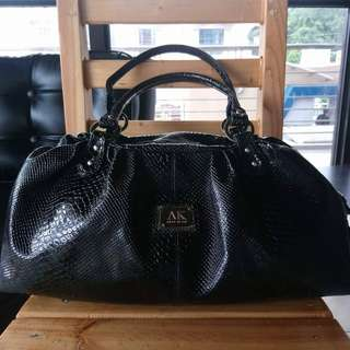 Like new Anne Klein Faux Python Patent Large Satchel