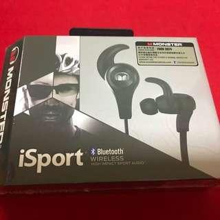 全新Monster iSport 籃芽無線耳機