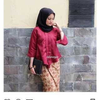 Baju kondangan muslim.. warna maroon.. cakep banget sis untuk kondangan