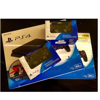 PS4 Slim 500GB 2K18 Bundle with extra DC4 Controller