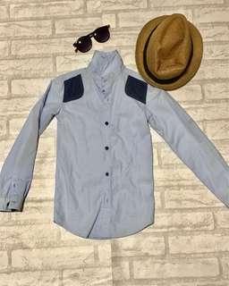 Preloved light blue long-sleeves polo (boys)