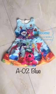 Ready Stock Baby Shark Kids Dress