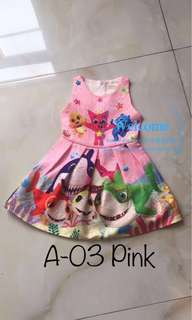 Ready Stock Baby Shark Kids Dress