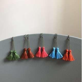 Free Mail! Dangle Tassel Earrings
