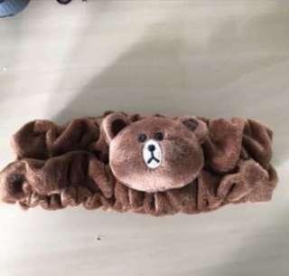 line bear head band