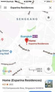 Studio rental , 2-3 mins walking to MRT station