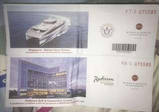 Singapore to Batam Ferry Tickets w/ Radisson & Golf Convention Centre