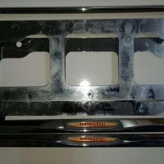 Frame plate daihatsu