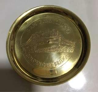 San Francisco golden plate