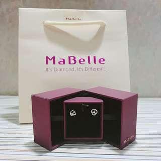 Mabelle 18k鑽石耳環(無單)