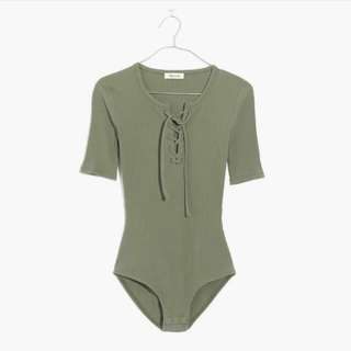 Madewell Lace Up Bodysuit