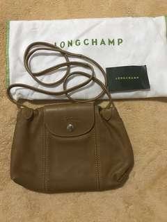 Original Longchamp La Pliage Cuir Crossbody Bag