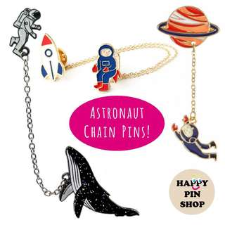 👨‍🚀Astronaut chain pins 🚀(Outer Space themed pins)