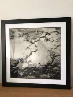 Framed photo of water