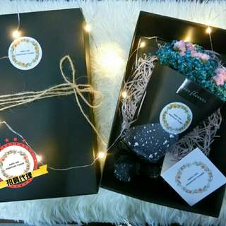 2mixture of crystal straw (flower) in gift box