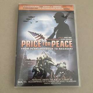 Price of Peace - From Pearl Harbour to Nagasaki (region code 4 dvd)