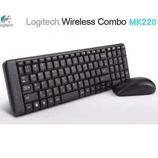 NEW Logitech mk220 wireless keyboard and mouse combo