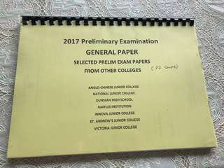 2017 GP Prelim Papers (PAPER 2 ONLY)