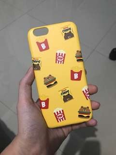 LINE friends official iphone 6 casing brown burger
