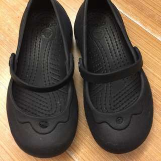 crocs正品 黑色娃娃鞋c10(約16-17cm)