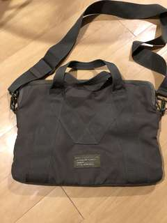 Marc Jacobs army green laptop/sling bag