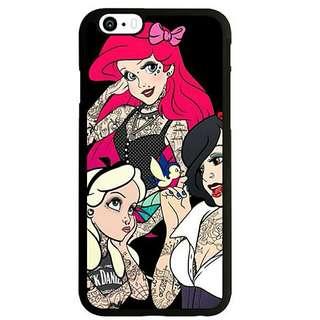 紋身(愛麗絲+白雪公主+人魚公主)IPhone Case