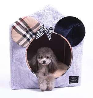 💙 PO 💙 LIMITED EDITIONS New Collection premium high-quality MICKEY MOUSE Palace Thick velvet fleece Pet Dog 🐶 & Cat 🐈 palace bed house