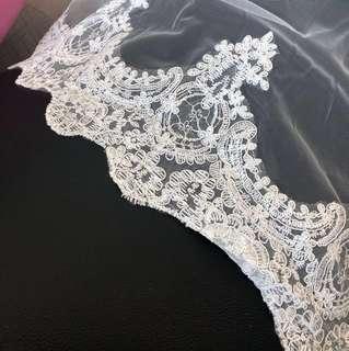 頭紗 婚禮 婚照 物資 婚紗 wedding dress veil head accessories