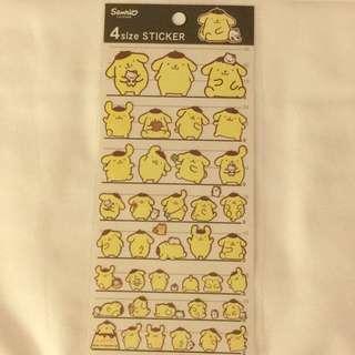 Japan Tokyo Sanrio Pompompurin Schedule Stickers 布丁狗 貼紙