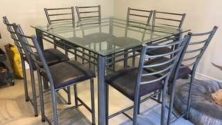 Glass Dining table for 8 people