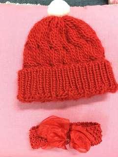 Crochet Hat with headband set