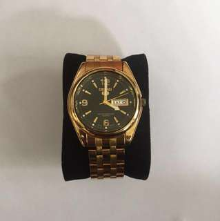 Seiko Gold Watch Quartz Movement