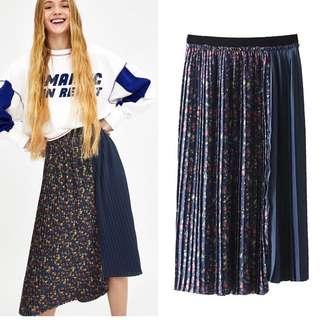 Inspired Zara Floral Pleated Skirt