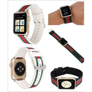 STRIPED NYLON LEATHER STRAP