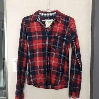 🚚 A&F 😍abercrombie & fitch 格子襯衫