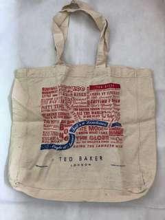 Ted Baker London printed tote bag 英國品牌 布袋