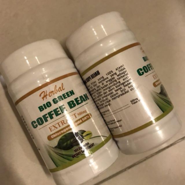 2 Botol Herbal Detox Slim Bio Green Coffee Slimming Diet