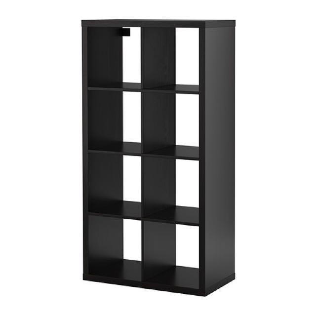 2⃣️👋Ikea KALLAX八格黑色書櫃/功能櫃