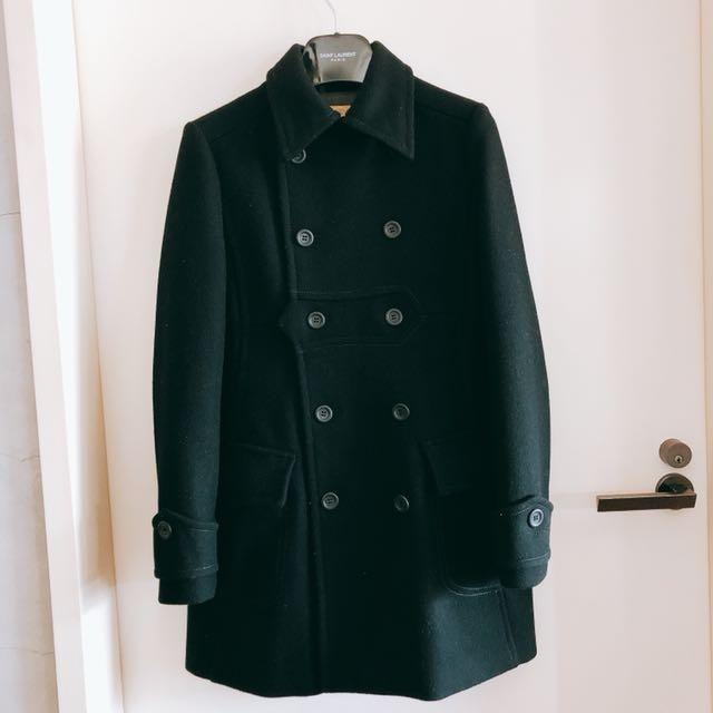 (3/20-4月初人不在國內)Tough經典款美美的顯瘦厚磅羊毛學院風外套 XS號