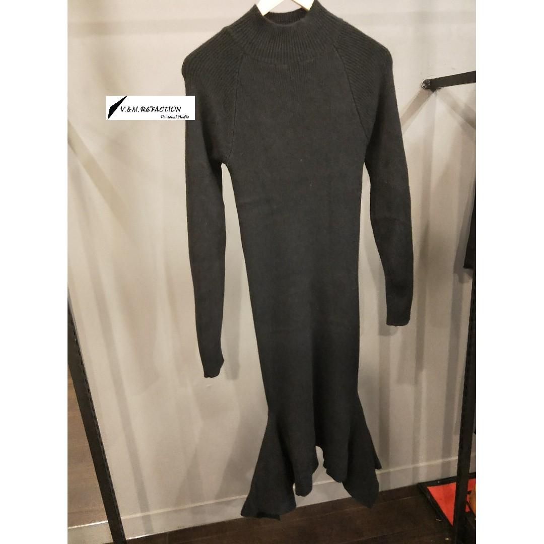 冬季現貨出清*黑色魚尾連身裙(原價980)特價600
