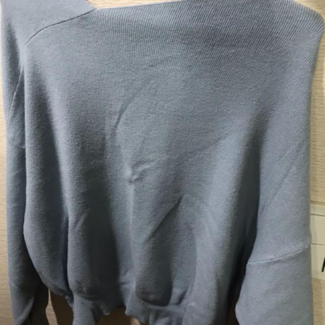 彈性薄長袖毛衣