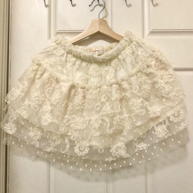 東京著衣蕾絲紗短裙