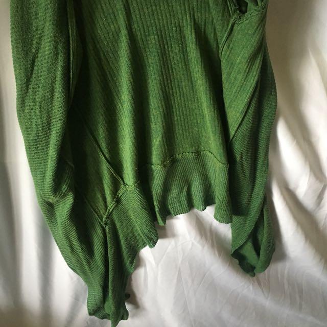 森林綠針織薄款外套