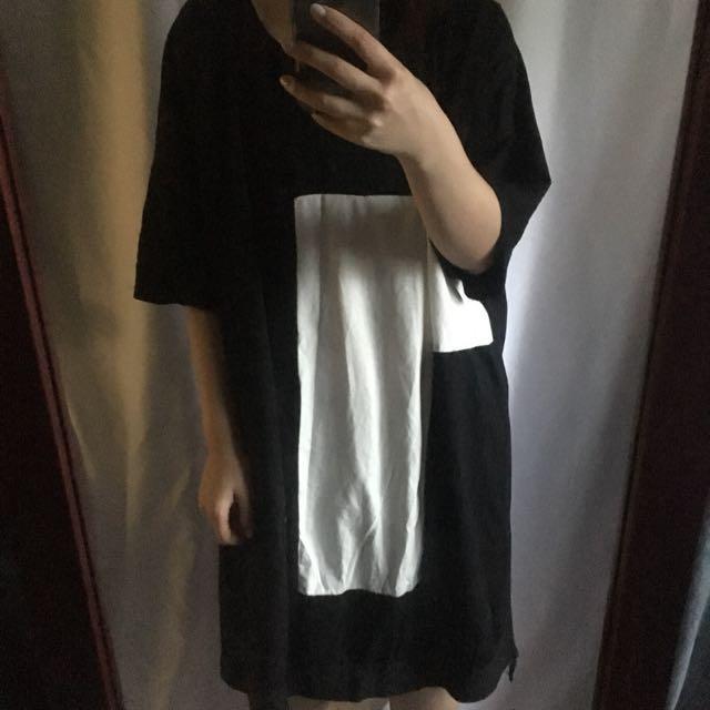 個性長版寬鬆連身裙