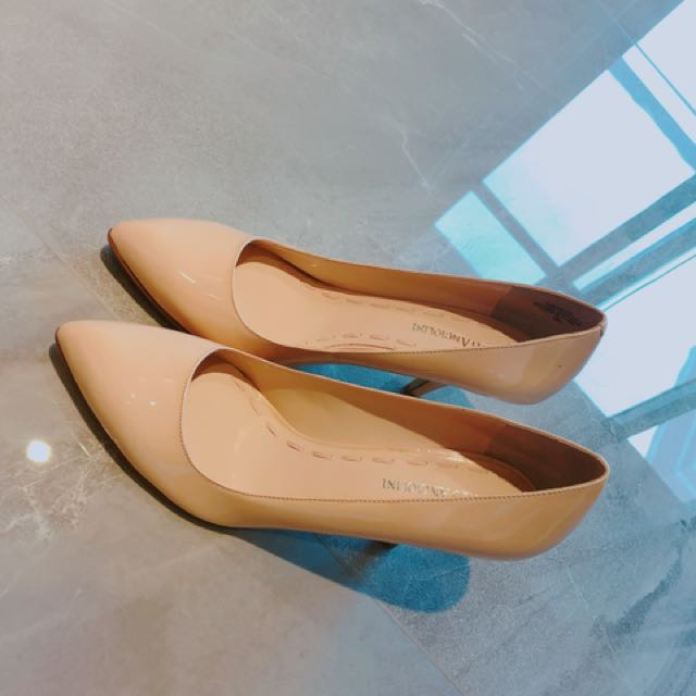 全新 裸色高跟鞋(8M)(鞋跟7公分)